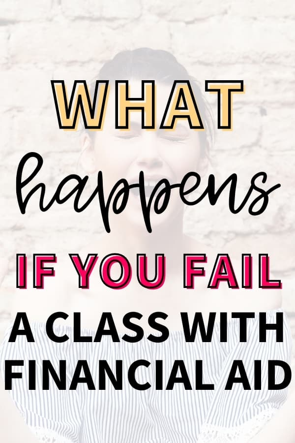 """A college girl screaming because she is failing a class. The text overlay says, """"what happens if you fail a class with financial aid."""""""